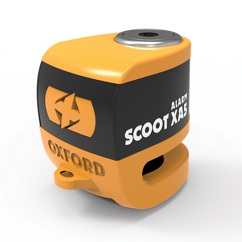 Oxford Scoot XA5 Alarm Disc Lock orange/black (čep 5.5mm)