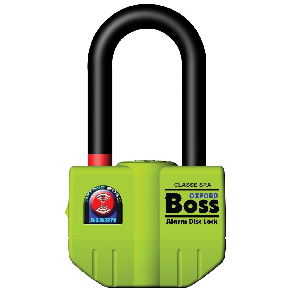 Oxford BigBoss Alarm Disc Lock yellow (čep 14mm)