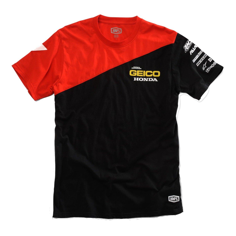 100% Pánské triko Bias Geico/Honda black M