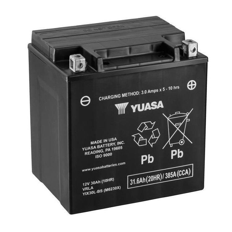 Bezúdržbová VRLA motocyklová baterie YUASA YIX30L-BS 12V-30Ah