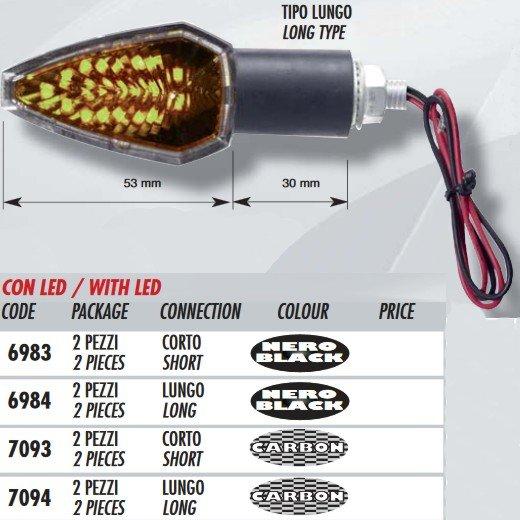 Far Innovative Style 6984 black LED (pár)