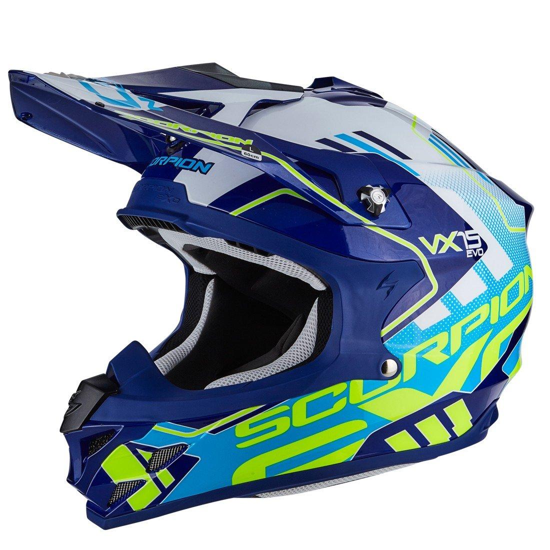Scorpion VX 15 AIR Argo modrá/bílá XS (53/54)
