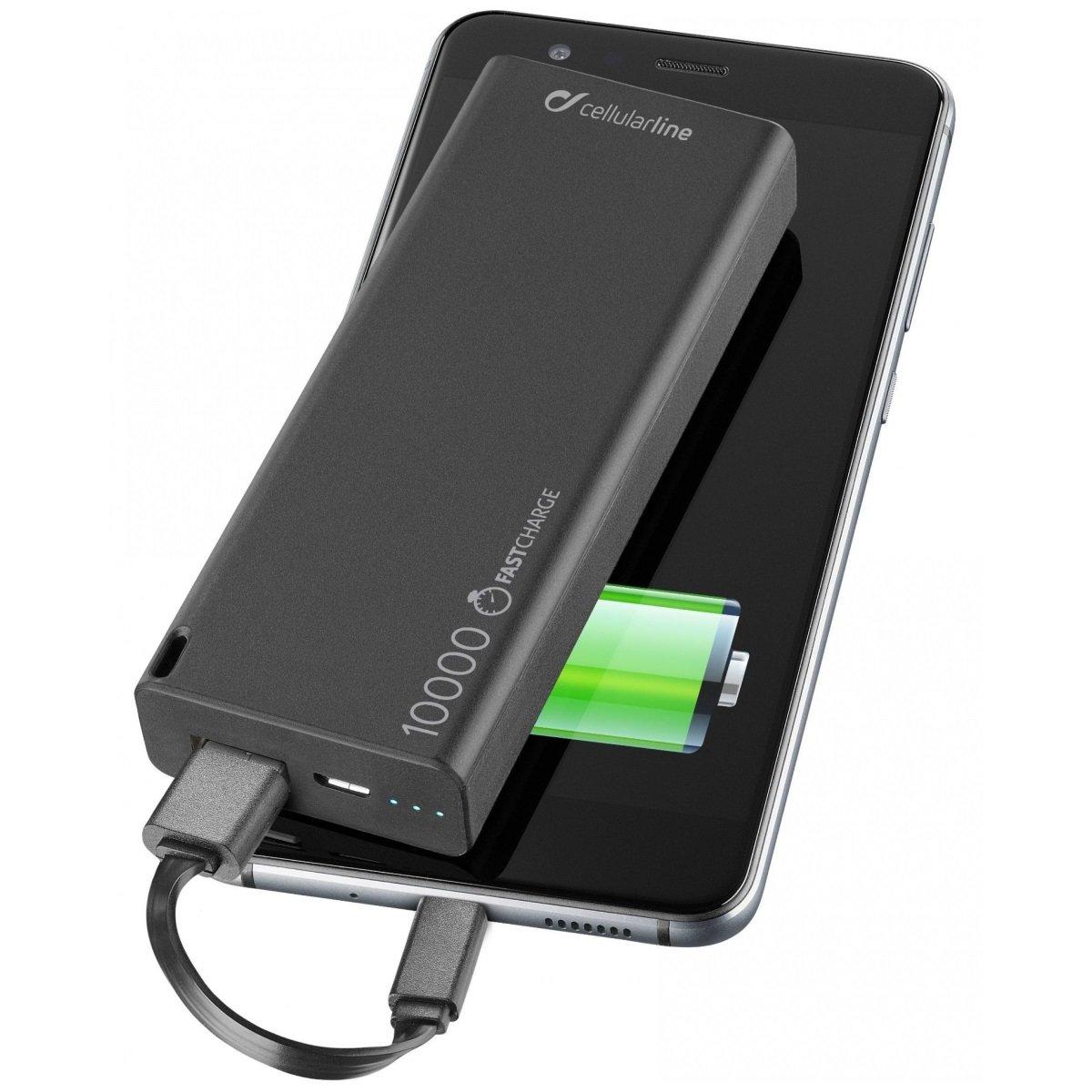 Cellularline Powerbanka FreePower Slim 10000mAh černá