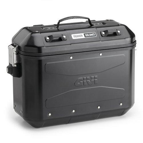 Sada bočních celohliníkových kufrů Givi DLM36B Trekker Dolomiti černá