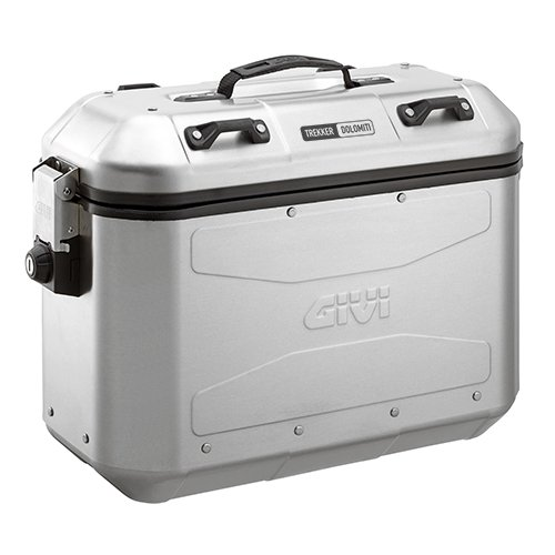 Sada bočních celohliníkových kufrů Givi DLM36A Trekker Dolomiti stříbrná