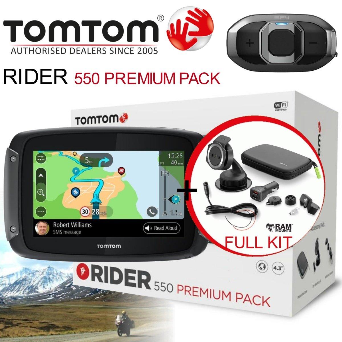 TomTom Rider 550 World Premium Pack + Interkom SF4 ZDARMA