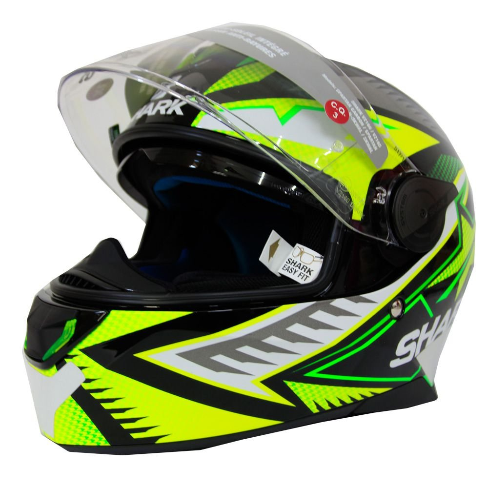 SHARK Skwal 2 Draghal black/green/yellow, vel. S S (55/56)